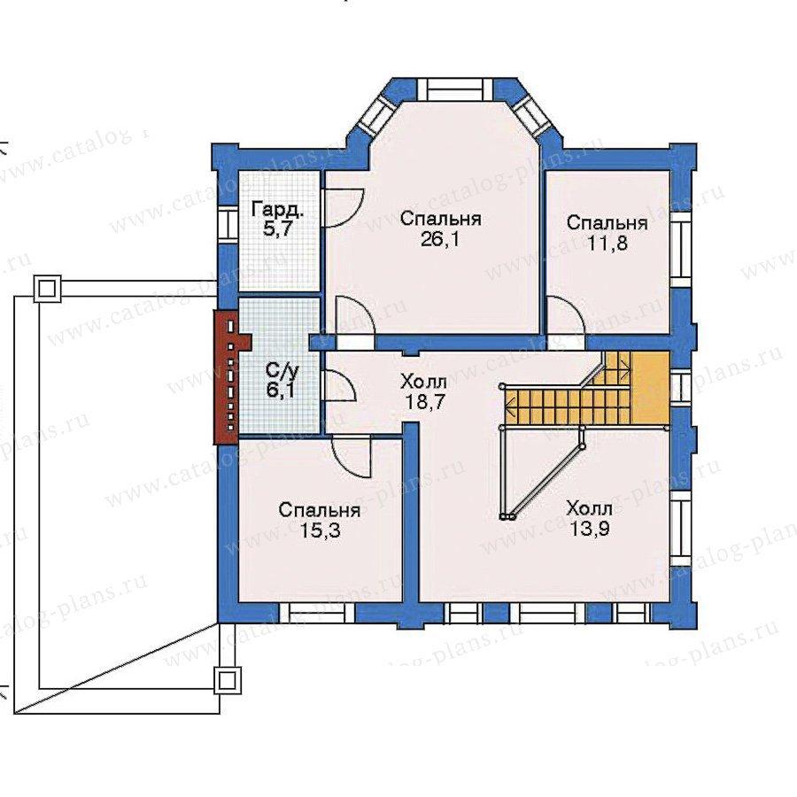 План 3-этажа проекта 52-16