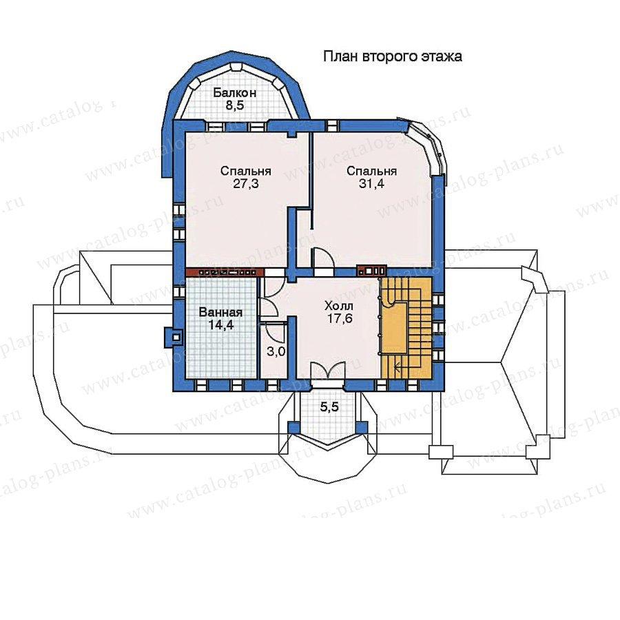 План 2-этажа проекта 52-25