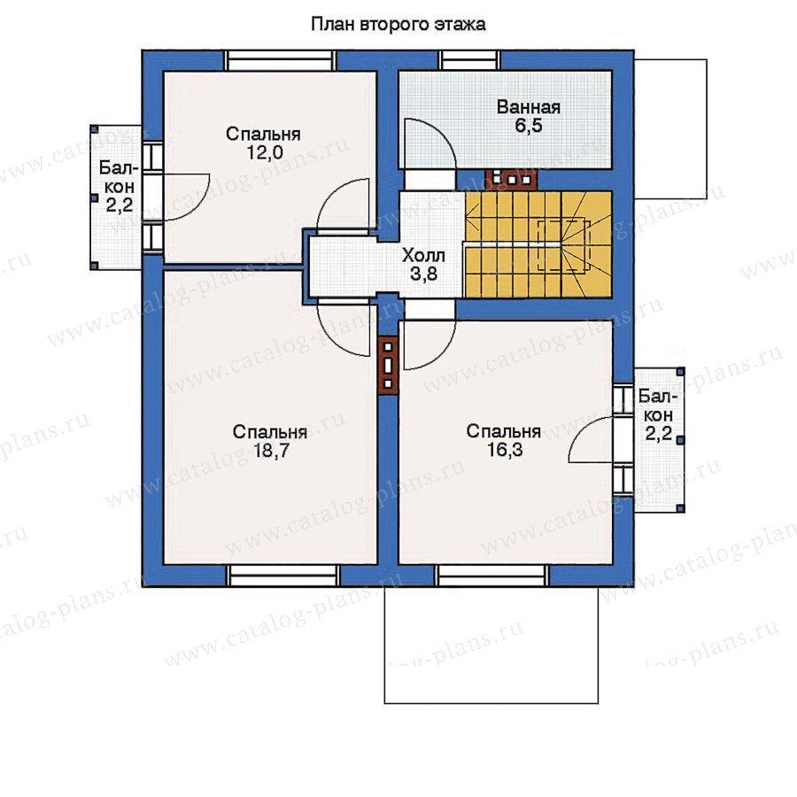 План 2-этажа проекта 53-98