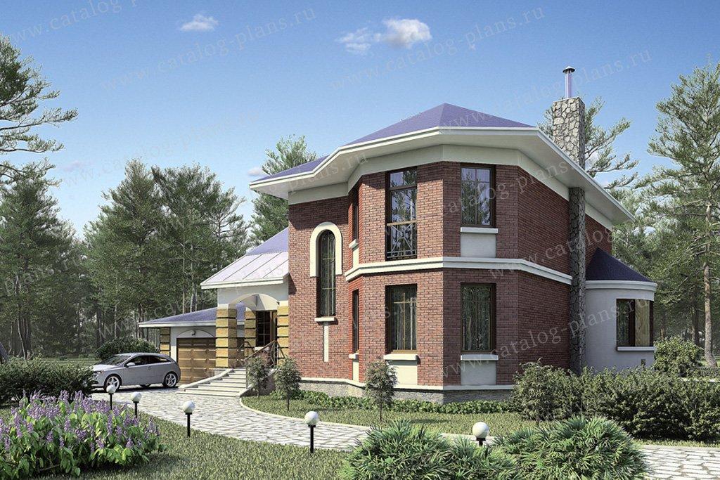 Проект жилой дом #53-24 материал - газобетон, стиль европейский