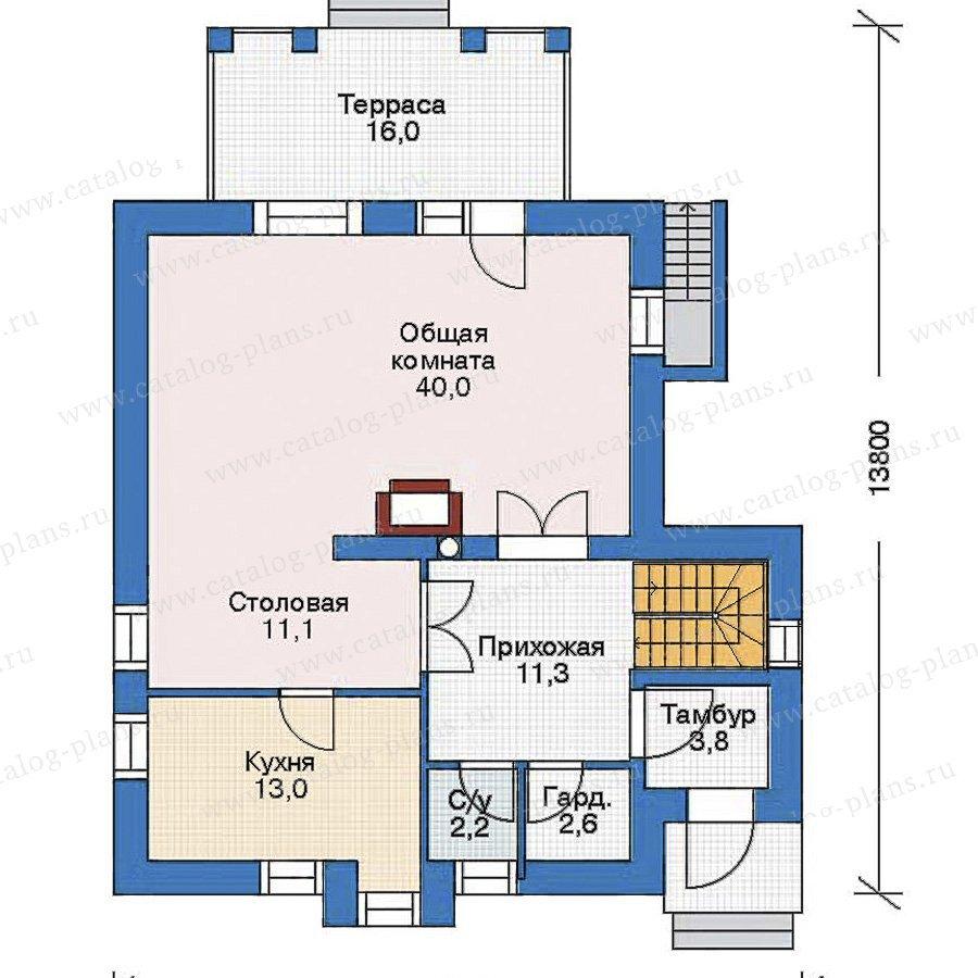 План 2-этажа проекта 52-90