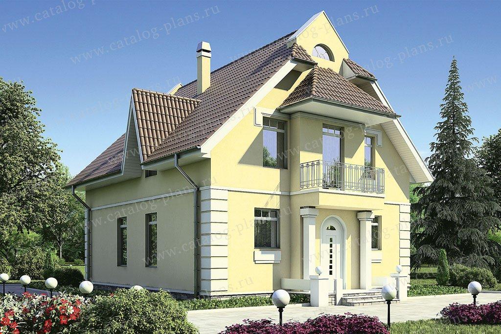Проект жилой дом #53-20 материал - газобетон, стиль европейский
