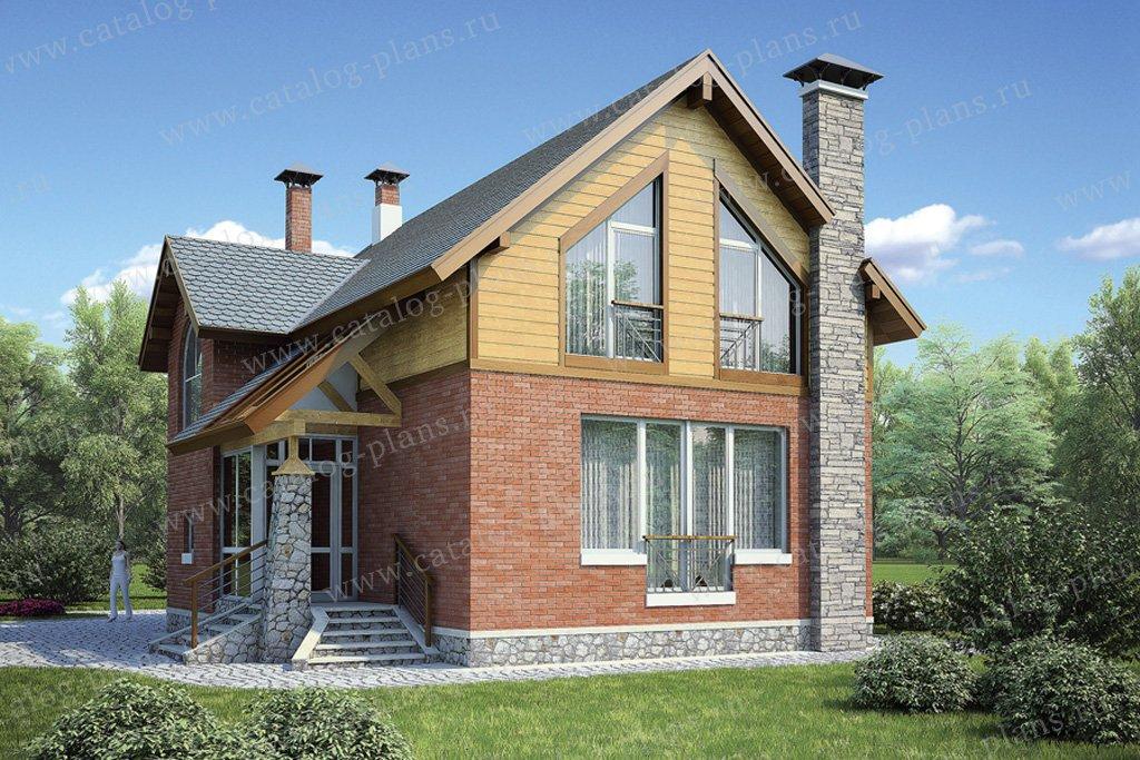 Проект жилой дом #53-81 материал - газобетон, стиль скандинавский