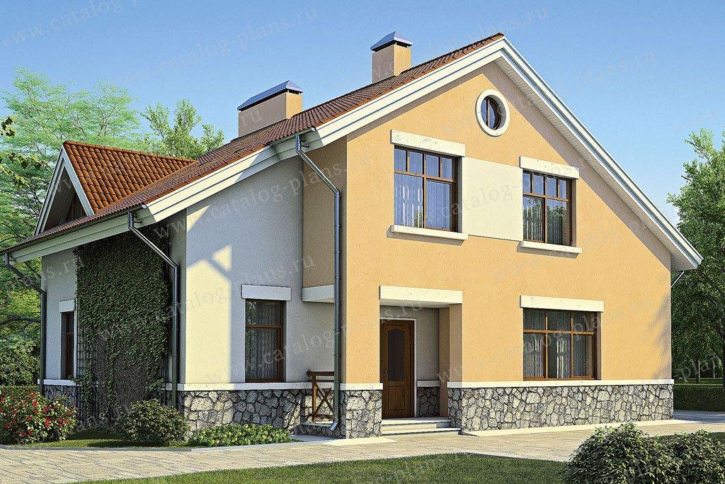 Проект жилой дом #53-00 материал - газобетон, стиль европейский