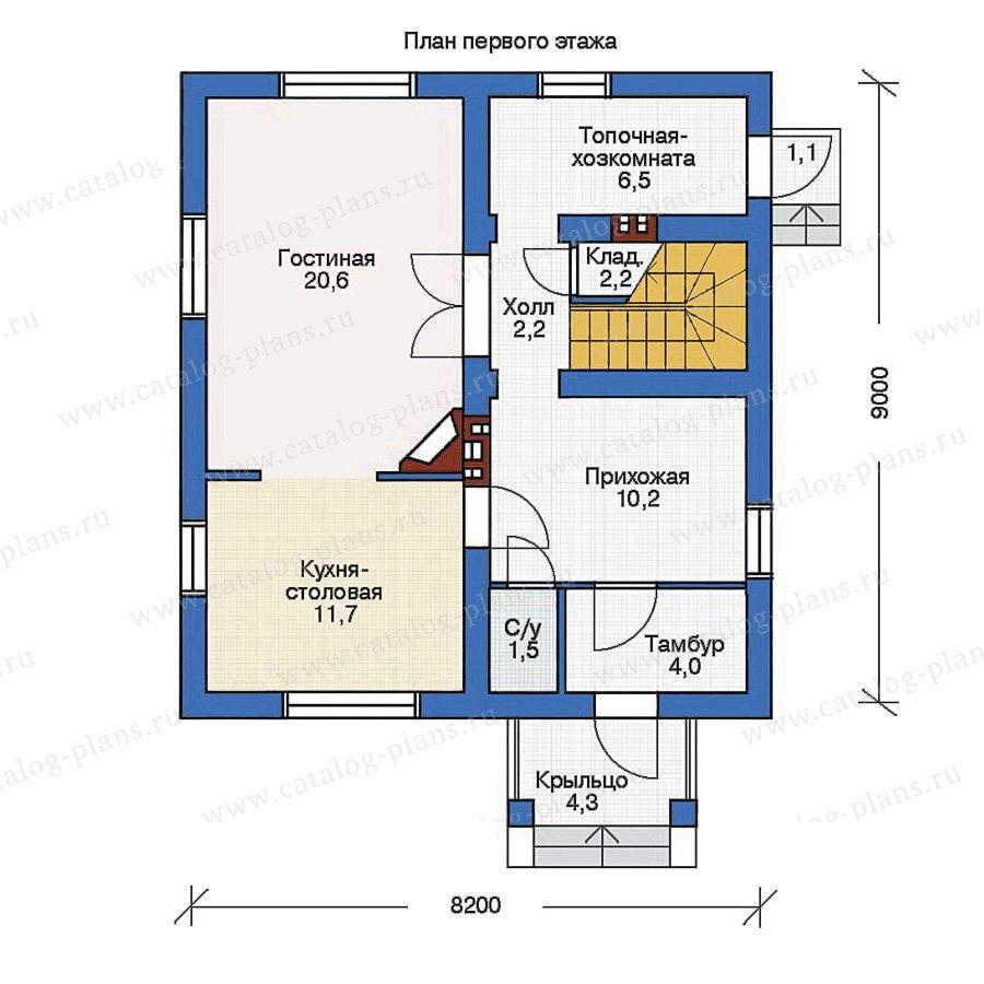 План 1-этажа проекта 53-98