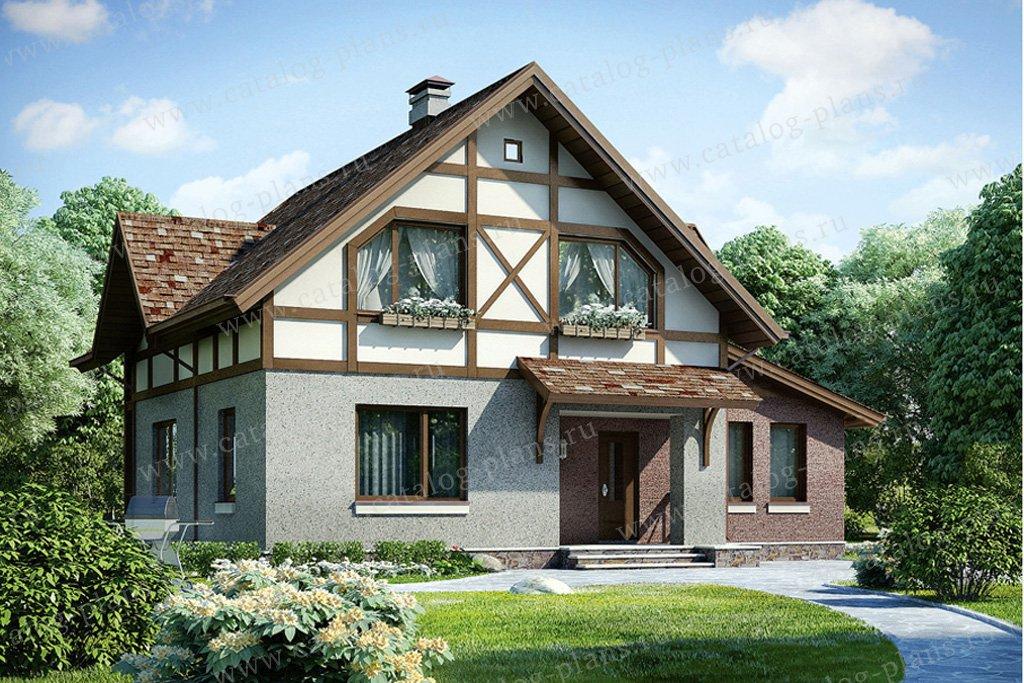 Проект жилой дом #53-96 материал - газобетон, стиль немецкий