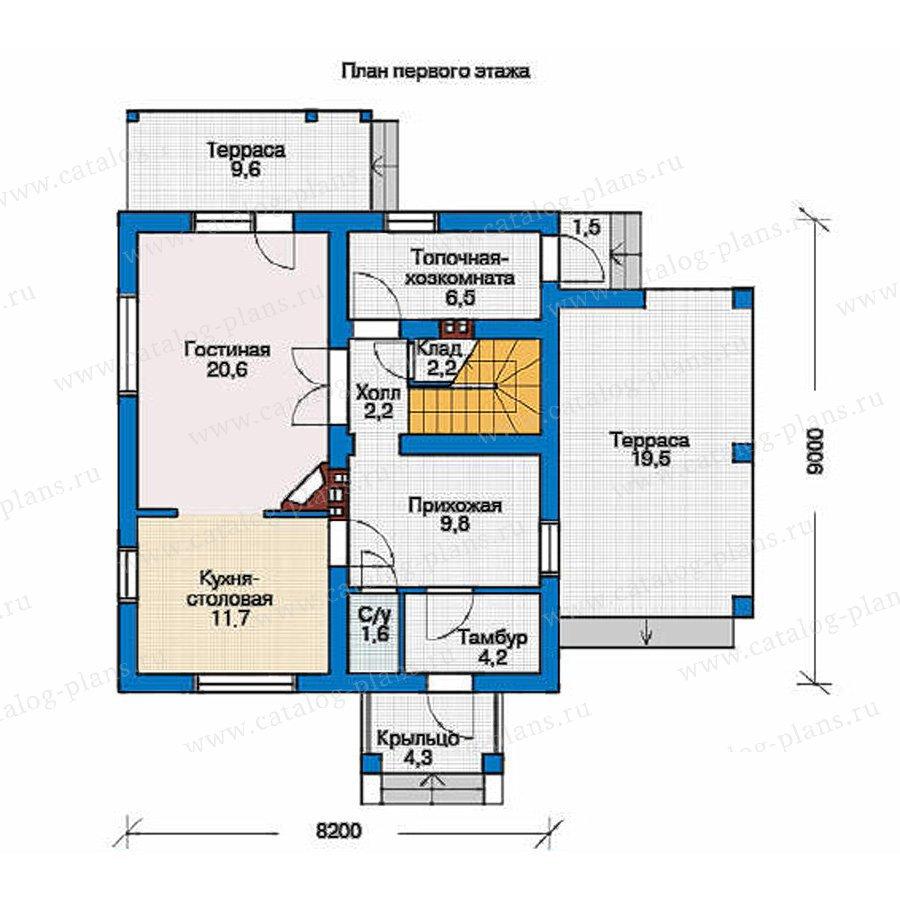 План 1-этажа проекта 53-95
