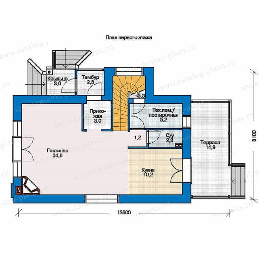 План 1-этажа проекта 53-81