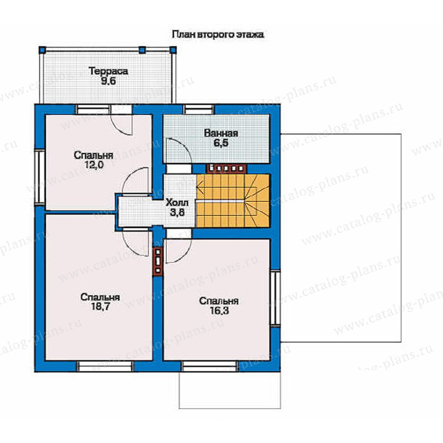 План 2-этажа проекта 53-96