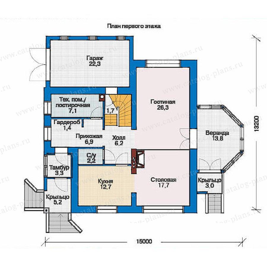 План 1-этажа проекта 53-77