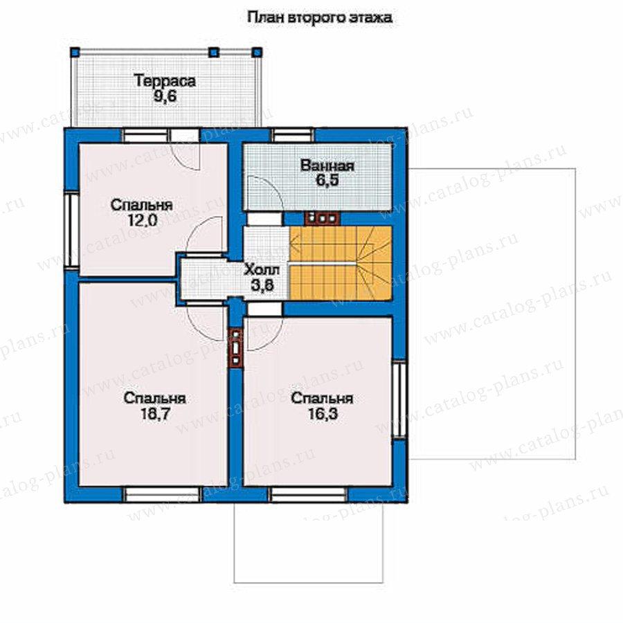 План 2-этажа проекта 53-95