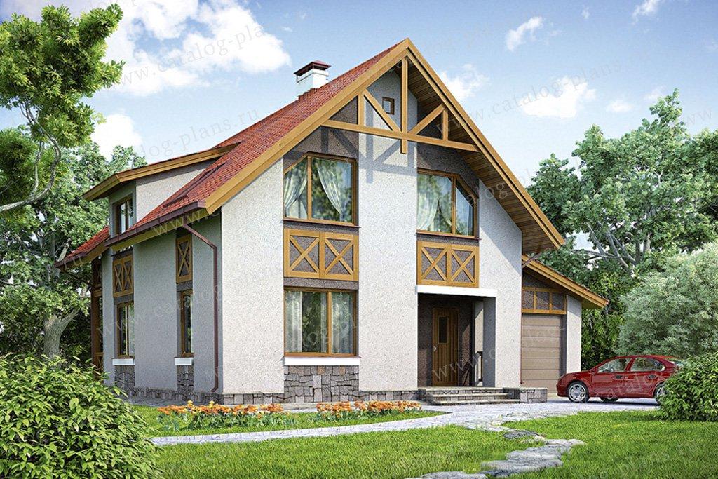 Проект жилой дом #53-97 материал - газобетон, стиль немецкий