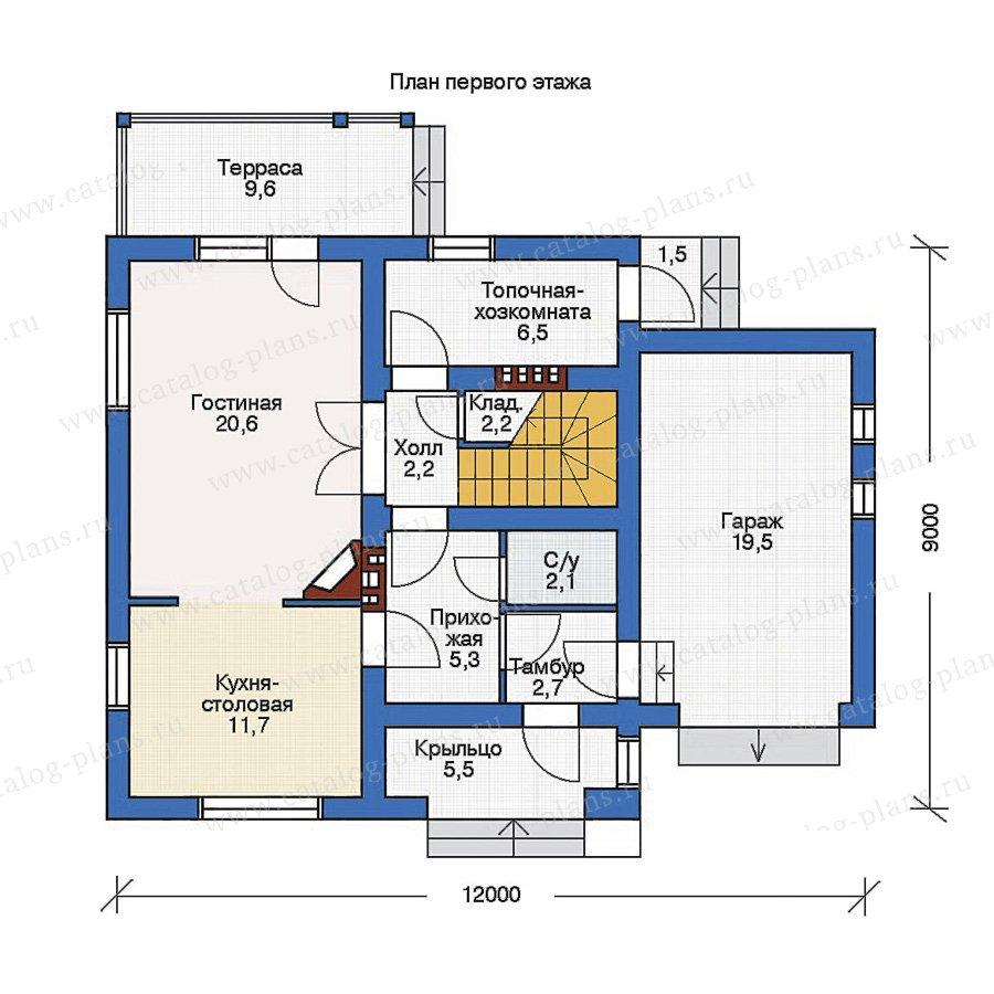 План 1-этажа проекта 53-97