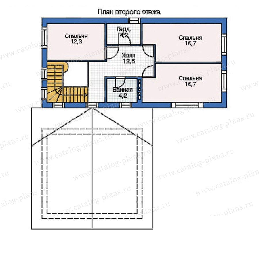 План 2-этажа проекта 52-95