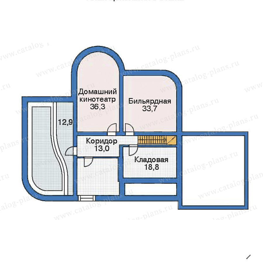 План 1-этажа проекта 52-99