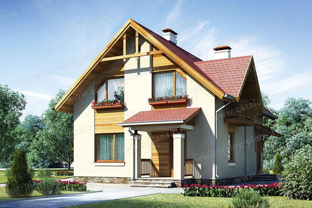 Проект жилой дом #53-98 материал - газобетон, стиль европейский