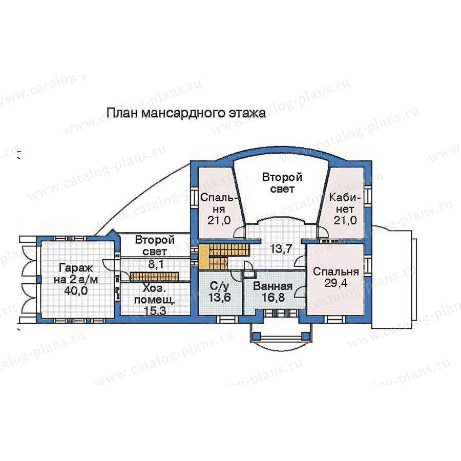 План 3-этажа проекта 52-92