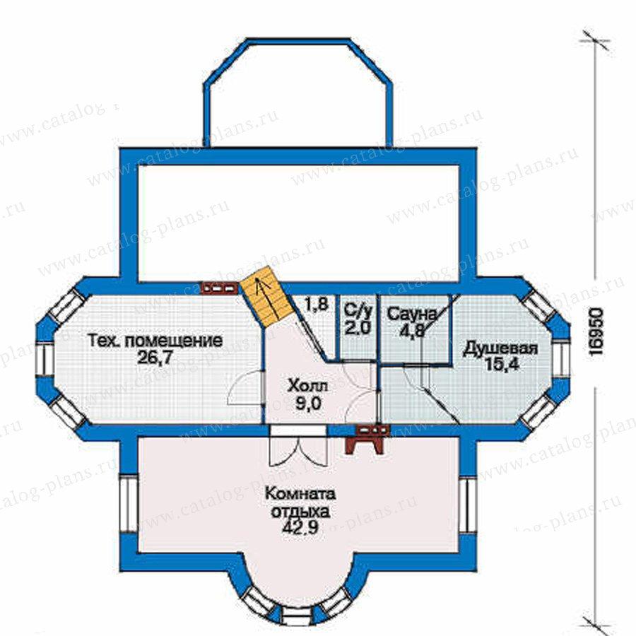 План 1-этажа проекта 53-28