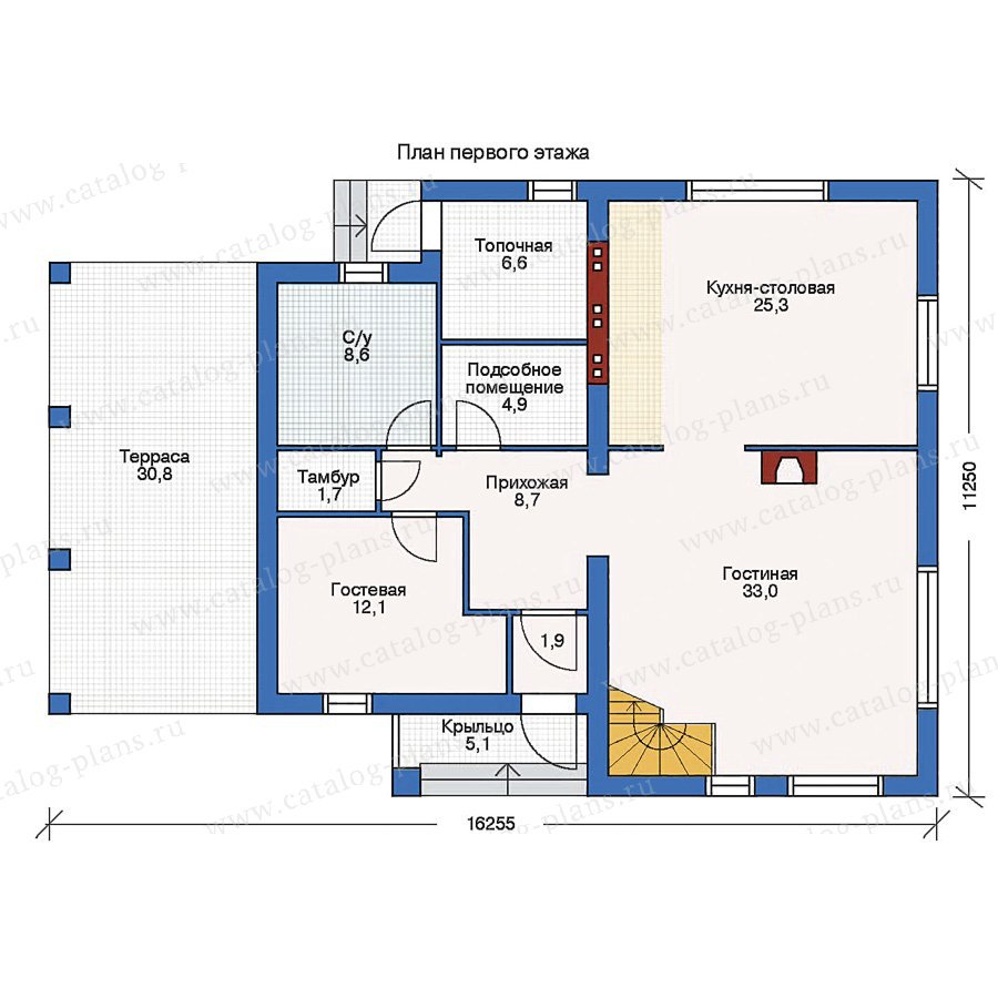 План 1-этажа проекта 53-04