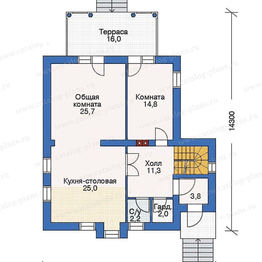 План 2-этажа проекта 53-08