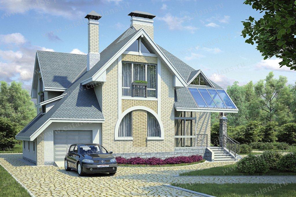 Проект жилой дом #53-77 материал - газобетон, стиль модерн