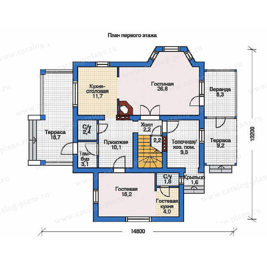 План 1-этажа проекта 54-18