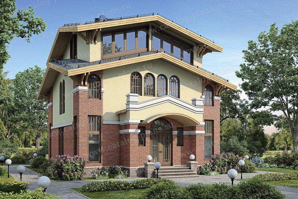 Проект жилой дом #54-81 материал - газобетон, стиль итальянский