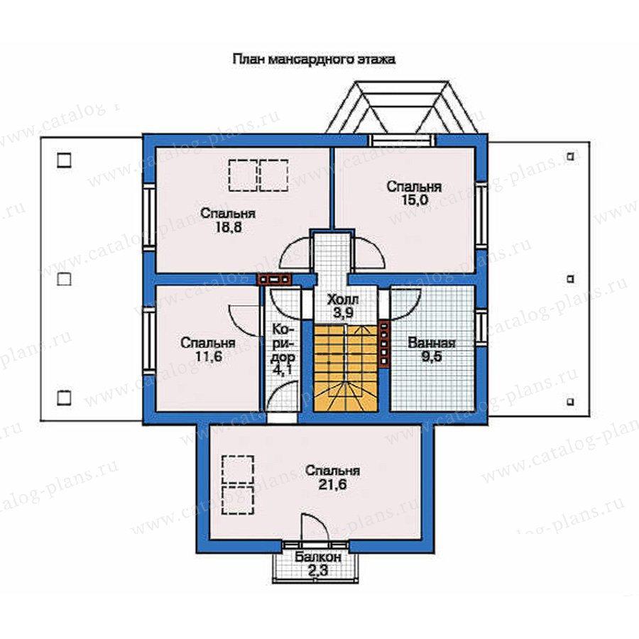 План 2-этажа проекта 54-18