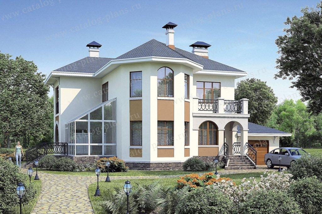 Проект жилой дом #54-11 материал - газобетон, стиль европейский