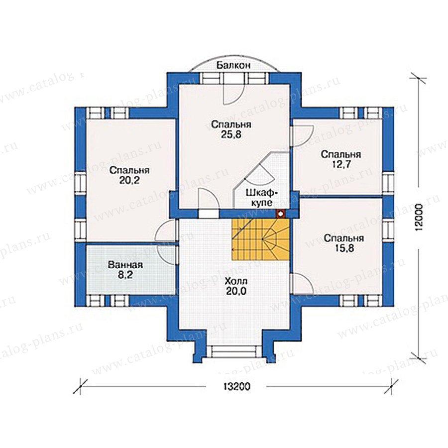 План 2-этажа проекта 54-47