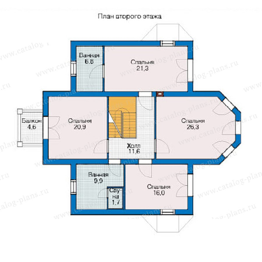 План 2-этажа проекта 54-63