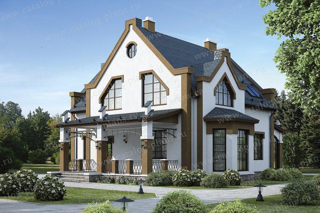 Проект жилой дом #54-48 материал - газобетон, стиль модерн