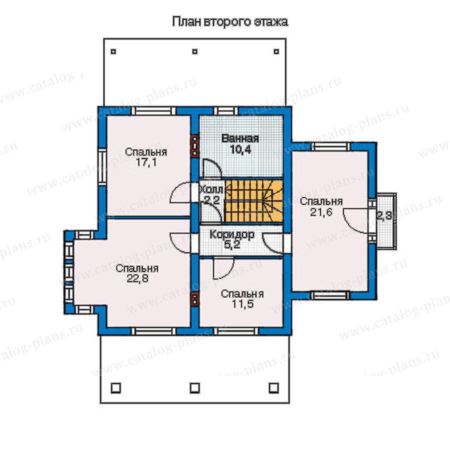 План 2-этажа проекта 54-49