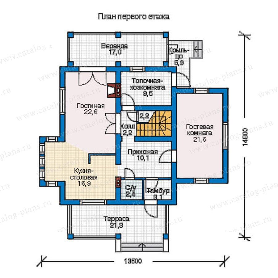 План 1-этажа проекта 54-49