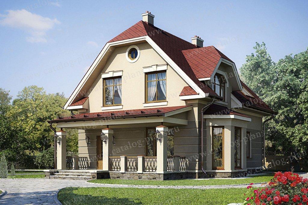 Проект жилой дом #54-60 материал - газобетон, стиль классический