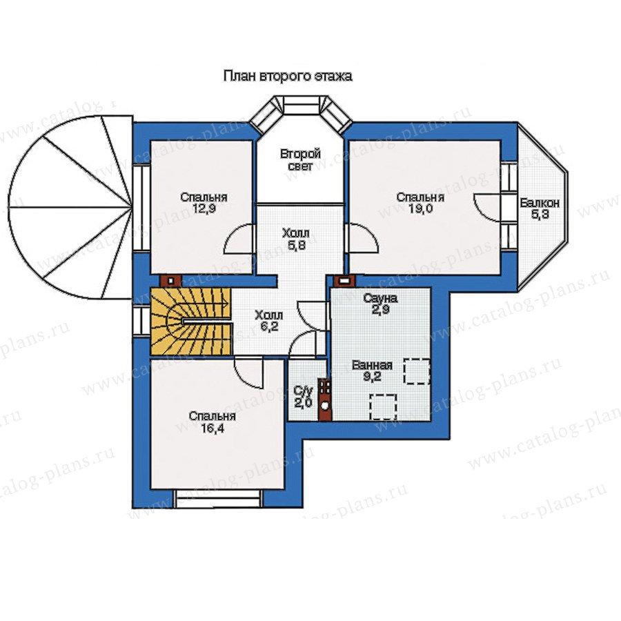 План 2-этажа проекта 54-08