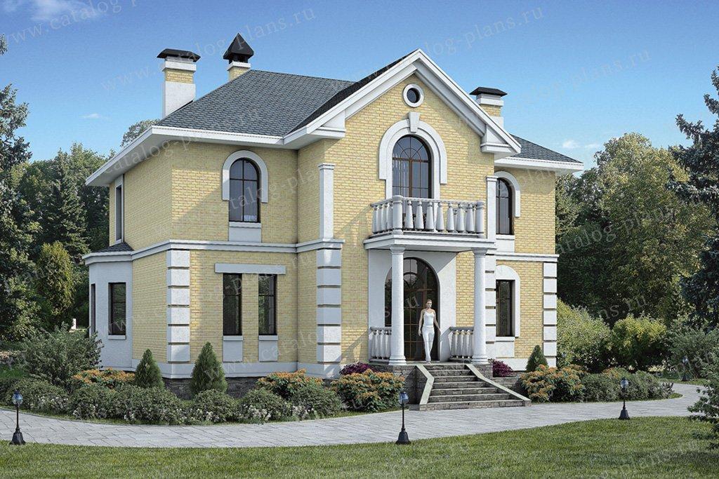 Проект жилой дом #54-63 материал - газобетон, стиль классический