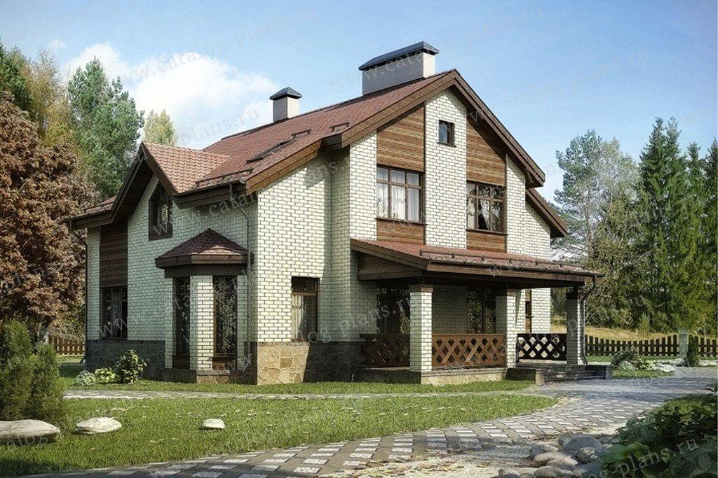Проект жилой дом #54-87 материал - газобетон, стиль современный