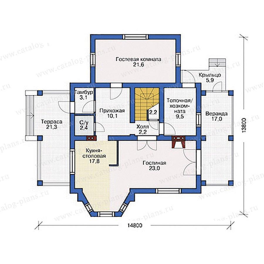 План 1-этажа проекта 54-48