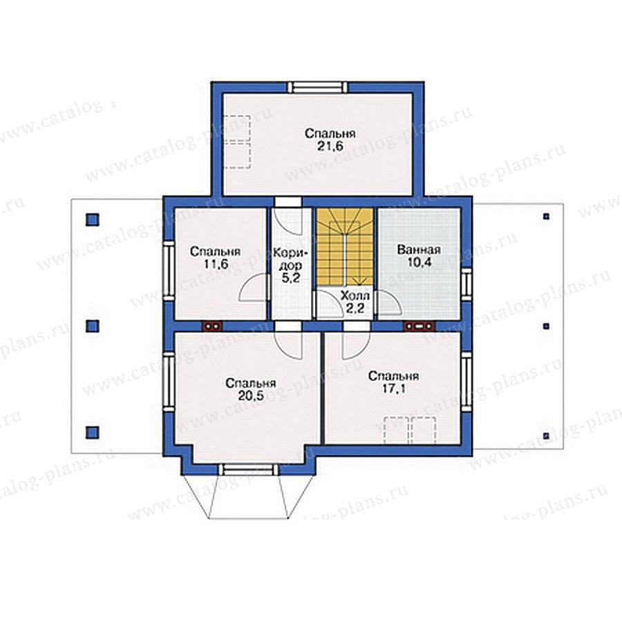 План 2-этажа проекта 54-48