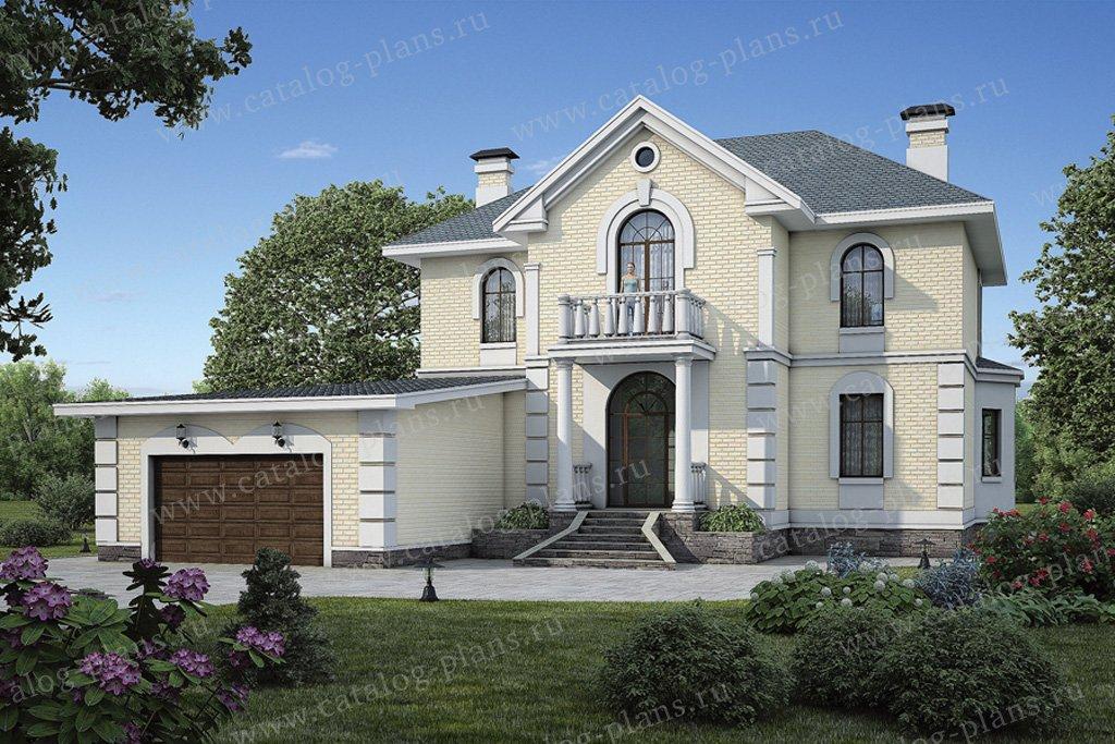 Проект жилой дом #54-92 материал - газобетон, стиль классический
