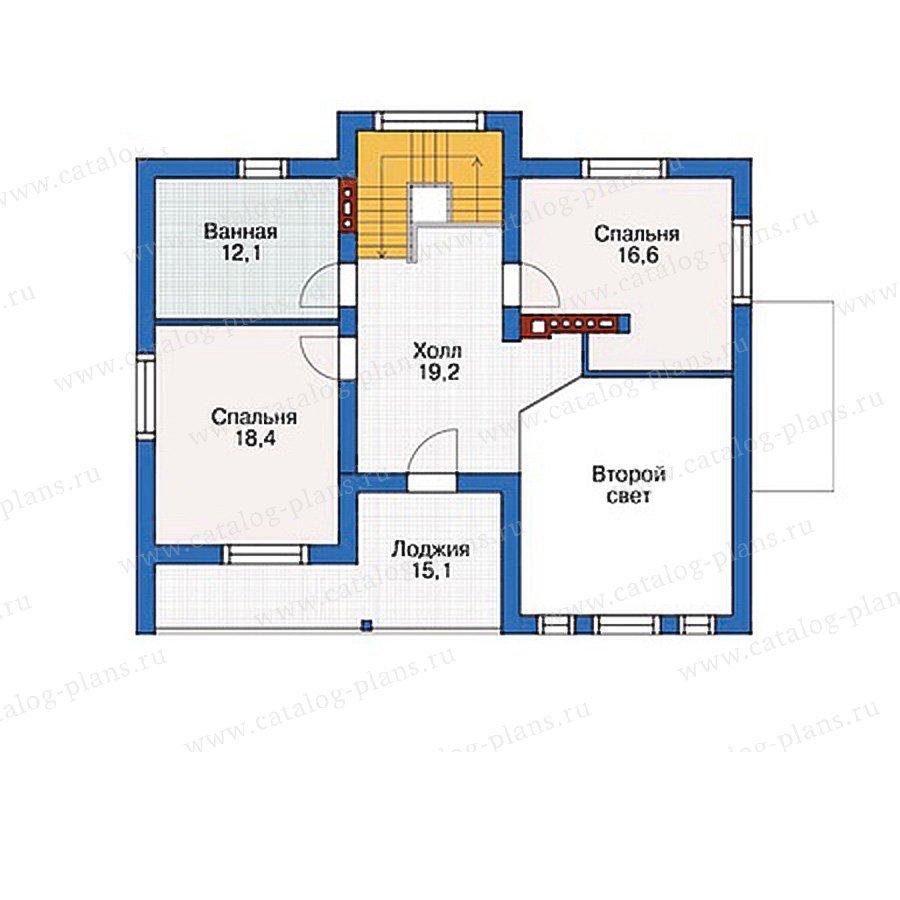 План 3-этажа проекта 54-45