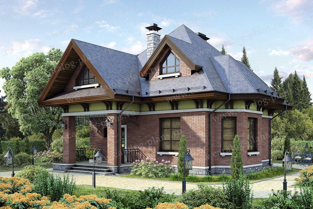 Проект жилой дом #54-95 материал - газобетон, стиль европейский