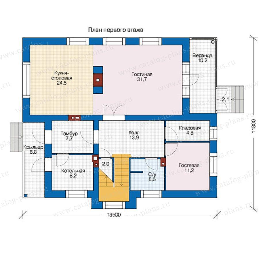 План 1-этажа проекта 56-07