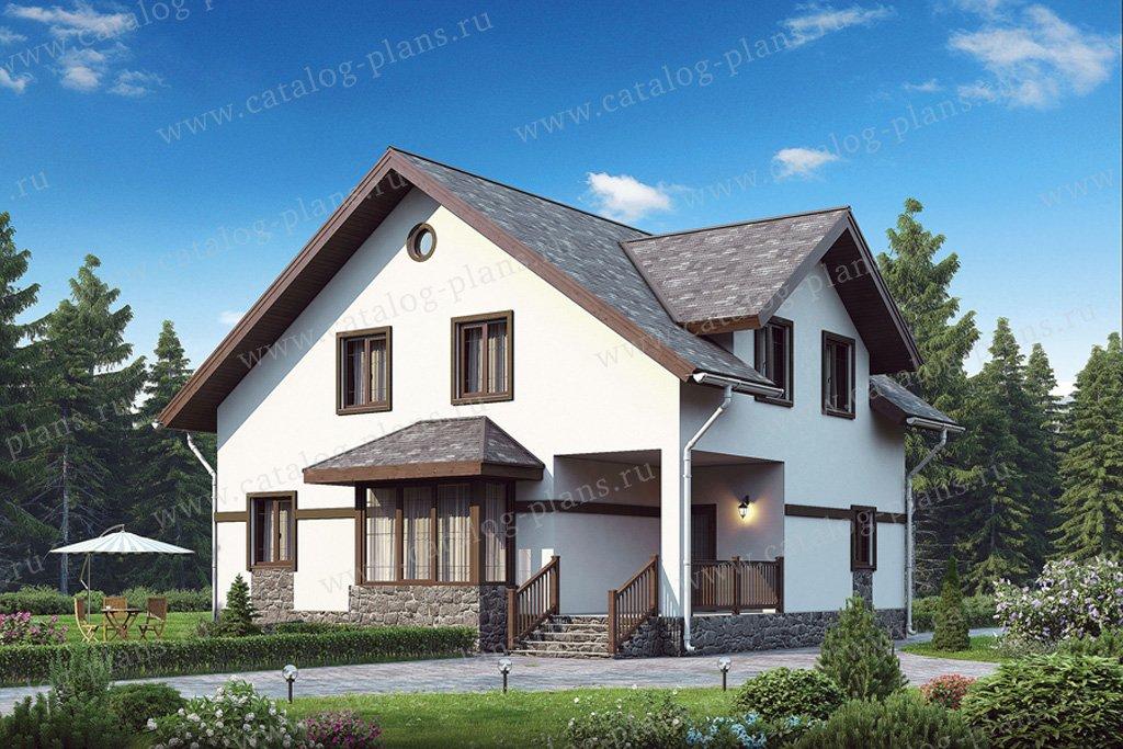 Проект жилой дом #56-98 материал - газобетон, стиль европейский