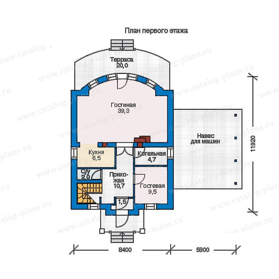 План 1-этажа проекта 55-18