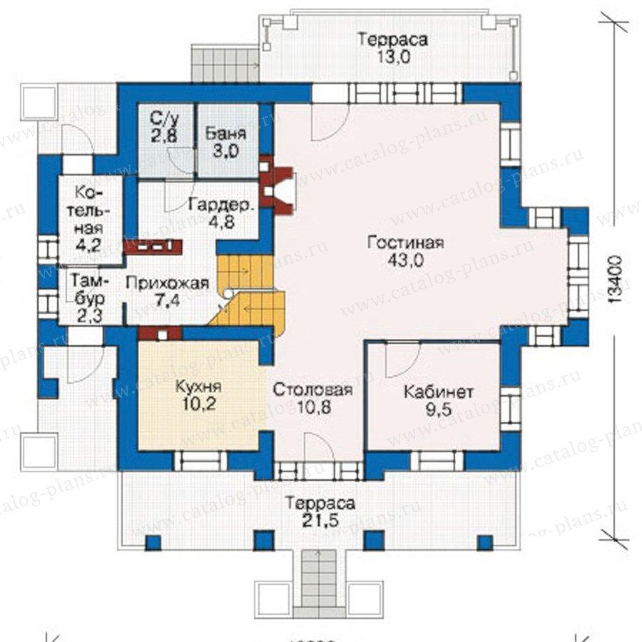 План 1-этажа проекта 55-04