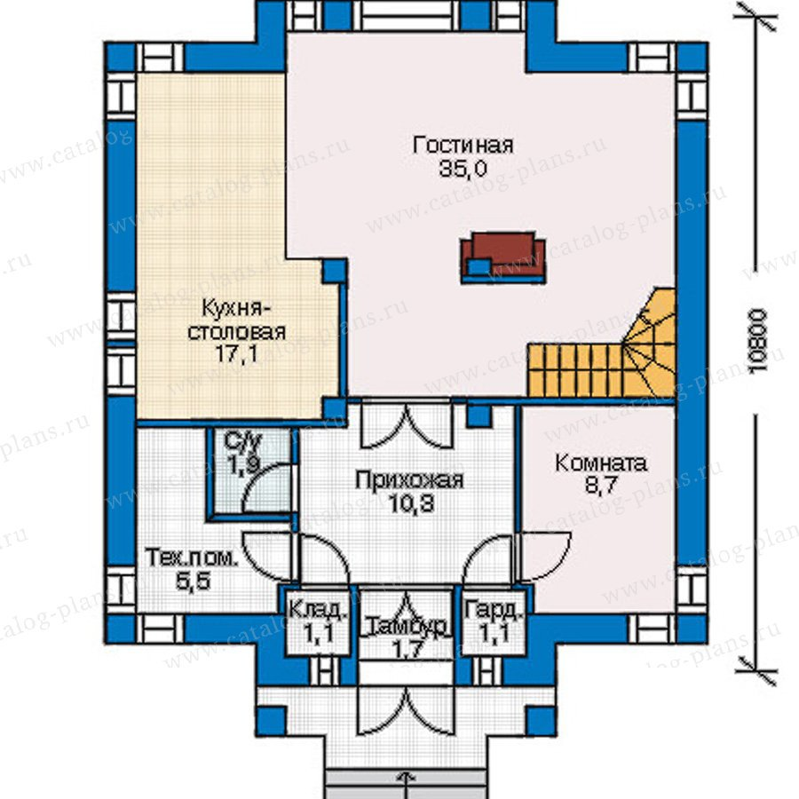 План 1-этажа проекта 54-81