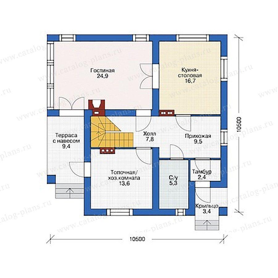 План 1-этажа проекта 55-49