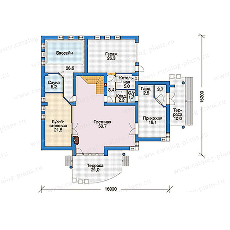 План 1-этажа проекта 56-51